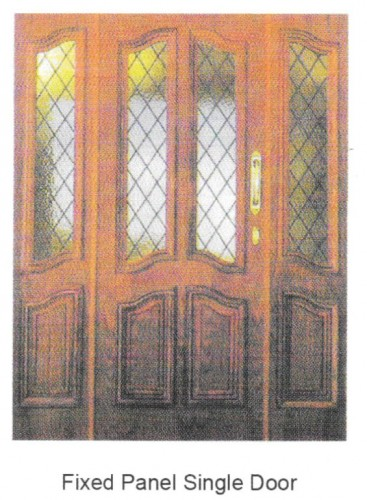 FIXED PANEL SINGLE DOOR